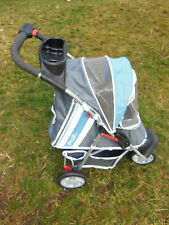 Collapsable PET STROLLER 3 Wheel Walk Jogger Travel Carrier Deluxe