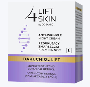Lift4Skin Bakuchiol Anti Wrinkle Night Cream Rejuvenating Botanical Retinol 50ml