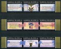 Marshall Inseln MiNr 125-33 ** 3x 3er Streifen amerikanische Verfassung (Q8095