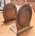 ANTIQUE+ROYCROFT+HAMMERED+COPPER+BOOKENDS+W%2FEARLY+MARK