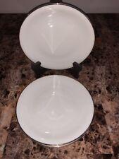"""ELFENBEIN PORZELLAN BAVARIA * (4) Dinner Plates 9"""" - White with Gold Trim"""