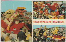 FLOWER PARADE SPALDING EARLY 1970s POSTCARD UN-POSTED BY SPRING PHOTOGRAPHIC LTD