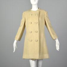 S 1960s Lilli Ann Petite Petite Cream Coat Double Breasted Winter Jacket 60s VTG