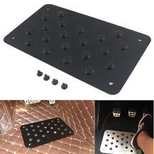 Universal Car Floor Mat Aluminum Foot Heel Carpet Pedal Scuff Plate Nonslip 2mm