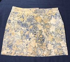 Express Leather Suede Skirt Size 2 Juniors Tan Black Floral