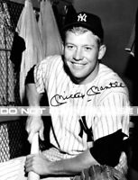 Vintage, Extremely RARE Mickey Mantle New York Yankees Large Photograph Reprint