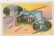 C3286 1940 POSTCARD COLONIAL HOMES HUNTSVILLE AL ALABAMA