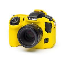 EasyCover Pro Piel de silicona caso de armadura de cámara para adaptarse a Nikon D500 DSLR-Amarillo