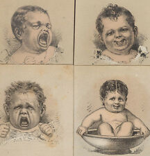 1880s PHILADELPHIA SHILL'S BABY ITEMS & COACHES 4 TRADE CARDS, * ON SALE * TC164