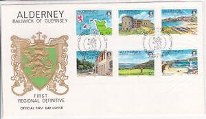 golf handstamp FDC first day cover Aldernay Guernsey includes golf stamp