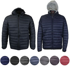 Maximos Men's Slim Fit Lightweight Zip Insulated Packable Puffer Hooded Jacket