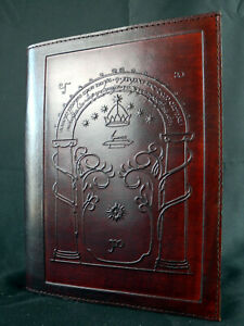 Handmade Refillable A5 Leather Journal: LORD of the RINGS - Doors of Durin