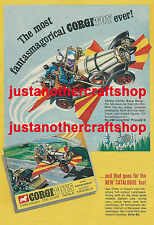 CORGI TOYS 266 Chitty Chitty Bang Bang Large A3 Poster Pubblicità Segno OPUSCOLO 1968