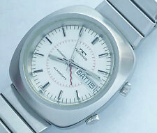 17 Jewels Swiss made Technos Alarm men's vintage automatic watch.