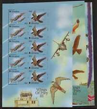 GIBRALTAR SG982/7 2001 WINGS OF PREY SHEETLETS MNH