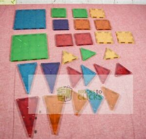MAGNA-TILES Clear Colors Set (Missing Pieces)