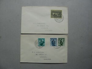 AUSTRIA, 2x cover 1957 Railway PO 126 canc. Martinsberg=Gutenbrunn-Schwarzenau.