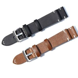 Genuine Leather Watch Bands Belt Wristwatch Strap Repacement Buckle 18/20/22mm