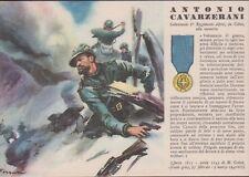 """Cartolina Militare R.Ferrari """"Medaglia D'Oro Antonio Cavarzerani n°97"""" Non Viagg"""