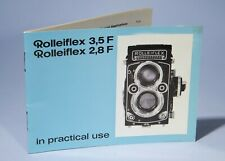 Rolleiflex 2.8F 3.5F Camera Instruction Manual * In Practical Use