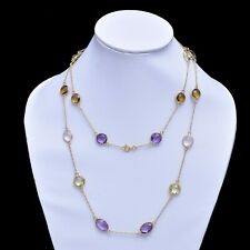 925 Sterling Silver Amethyst Bezel Connector Chain,Multi color Chain,Bezel Chain