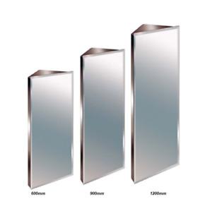 Luxury Bathroom Corner Cabinet Storage Stainless Steel Bevelled Mirror 3 Sizes