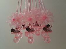 12 Pacifier Necklaces African American Baby Shower Game Favors Prizes Girl Decor