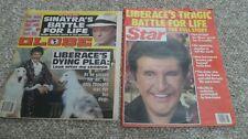 Liberace Death. 2 February 1987 Tabloid Magazines  Star & Globe