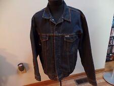 Mens Levi Strauss Signature Denim Jacket Large Trucker Jean Biker Button Up EUC