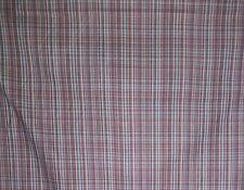 Rust and Gray Mini Plaid Woven 100% Cotton Fabric 60