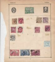 Germany Stamps on Album Page ref  R 18870