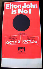 ELTON JOHN Is No.1 US ORG UNI Records 1972 CONCERT POSTER Honky Château LA FORUM