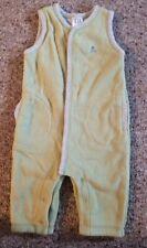 Baby Gap Flannel Lined Green Fleece Jumpsuit Romper Boys Size 3-6 months