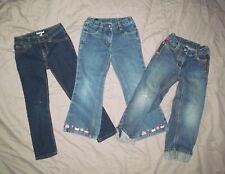 Cat & Jack and Gymboree Girls 5 Lot 3 pairs Adjustable Waist blue denim jeans