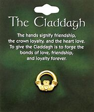 Claddagh Lapel Pin (T969) Goldtone, Carded