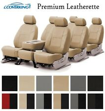 Coverking Custom Seat Covers Premium Leatherette 3 Row Set - 12 Color Options