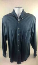 Alain Figaret Paris Mens Button Down Shirt Blue Long Cuffed Sleeves Cotton 41 L