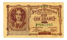 Belgium ... P-86 ... 1 Franc ... 6.10.1917 ... *AU-UNC*
