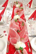 Komplette Tischdeko in rot-creme für  Hochzeit/Muttertag/Verlobung ectr.