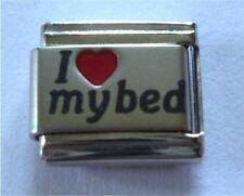 9mm Classic Size Italian Charms L56  I ( Red Heart) Love my bed