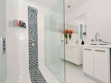 Frameless Shower Screen Fixed Panel 875mm x 2000mm - 10mm Toughened Glass