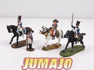 AUS6 LOT 4 SOLDAT 1/50 décor guerre AUSTERLITZ Napoléon  del prado : cavaliers
