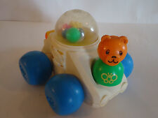 VINTAGE 1987 Fisher Price Chunky Little People Play POPPITY POP CAR & BEAR Toy