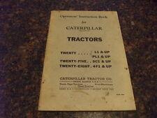 Cat Caterpillar Venti Cinque Otto Operatori Istruzioni / Cura Manuale