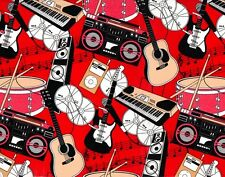 ROCKIN MUSIC EMBOSSED GIFT WRAPPING PAPER - Two 6 Ft Sheets