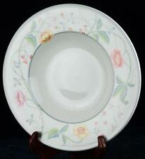 "9"" Villeroy & Boch Albertina Rim Soup Plate Bowl China Porcelain Vine & Flowers"