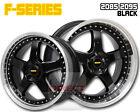 4x FR BLACK 20 inch Staggered Alloy Wheel FORD FALCON AU BA BF FG XR6 XR8 G6E