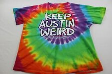 """Keep Austin Weird"" tie dye shirt in adult large"