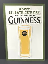 "Guinness Blonde Happy St. Patrick's Day Tin Sign Embossed New & F/S 20"" x 14"""