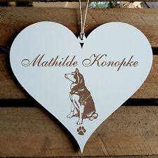 Personalisiertes Schild Herz « SIBERIAN HUSKY » Name Türschild Hund Hunde Deko
